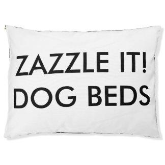 Modèle de blanc de lit de chien personnalisé par
