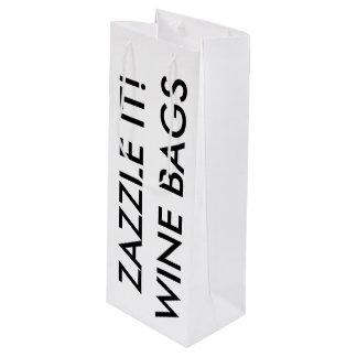Modèle de blanc de sac de cadeau de vin