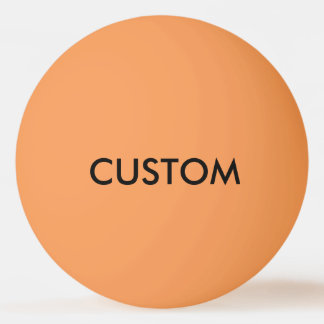 Modèle de blanc personnalisé par coutume de boule balle de ping pong
