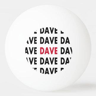 Modèle de boule de ping-pong de Dave Balle De Ping Pong