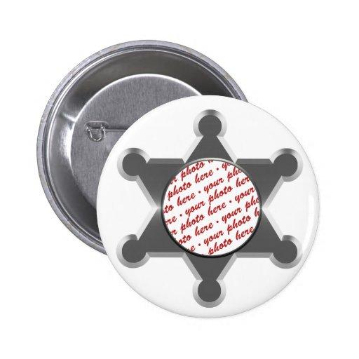 Modèle de cadre de photo d'étoile du bidon du shér badge rond 5 cm
