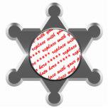 Modèle de cadre de photo d'étoile du bidon du shér photos en relief