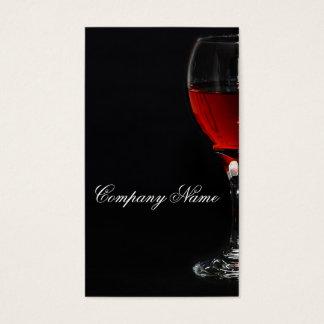 Modèle de carte de glassbusiness de vin