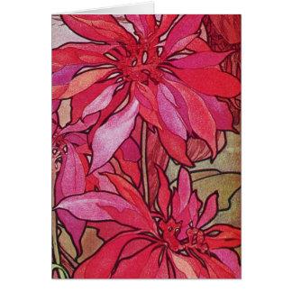 Modèle de carte de Noël de poinsettias d'Alphonse