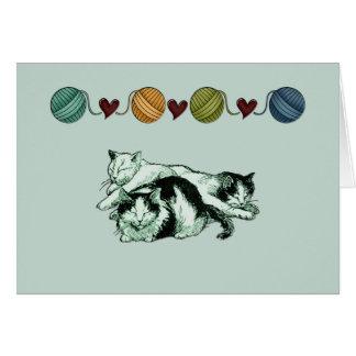 Modèle de carte de note de sommeil de chats de
