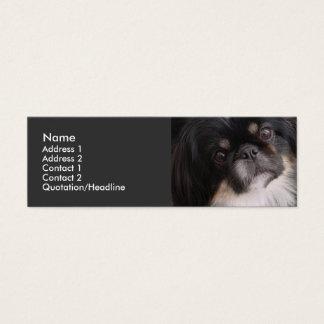 Modèle de carte de profil - chien de Pekingnese
