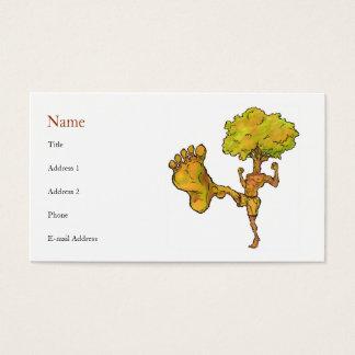Modèle de carte de profil d'arbre de Kung Fu