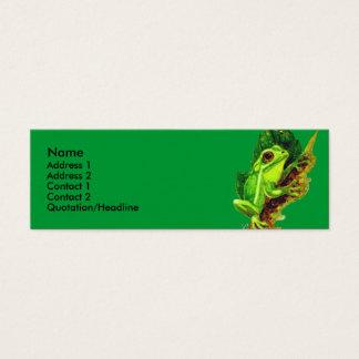 Modèle de carte de profil - grenouille