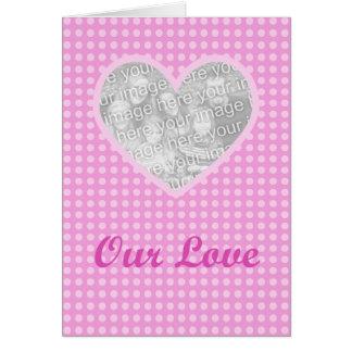 Modèle de carte de Saint-Valentin de coeur de
