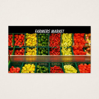 Modèle de carte de visite d'agriculteurs