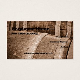Modèle de carte de visite de baril de vin