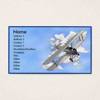 Modèle de carte de visite de biplan