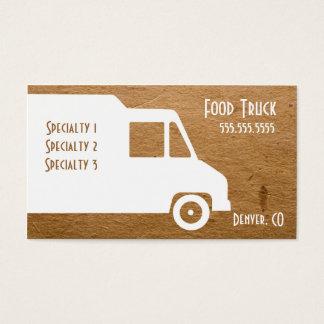 Modèle de carte de visite de camion de nourriture