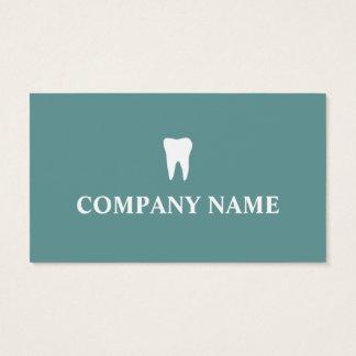 Modèle de carte de visite de dentiste avec le logo