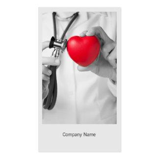Modèle de carte de visite de docteur et de coeur