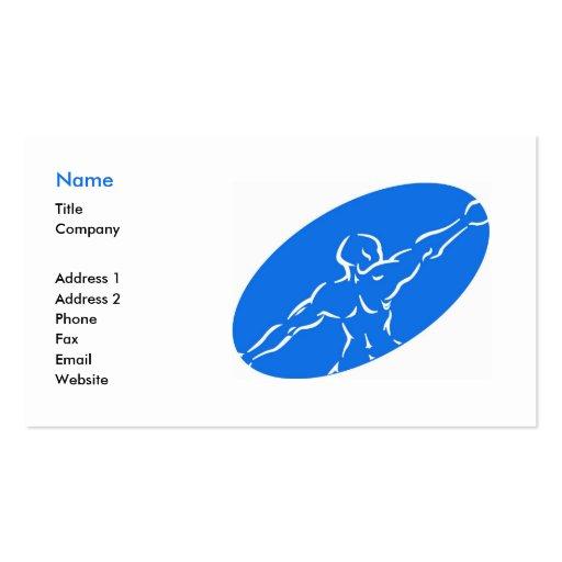 Modèle de carte de visite de forme physique - bleu