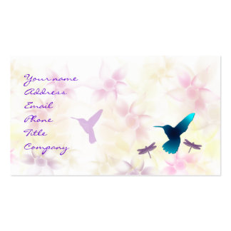 Modèle de carte de visite de jardin de colibri