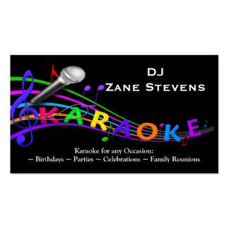 Modèle de carte de visite de karaoke du DJ