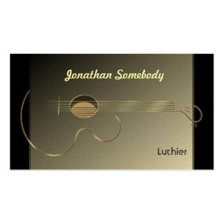 Modèle de carte de visite de logo de guitare