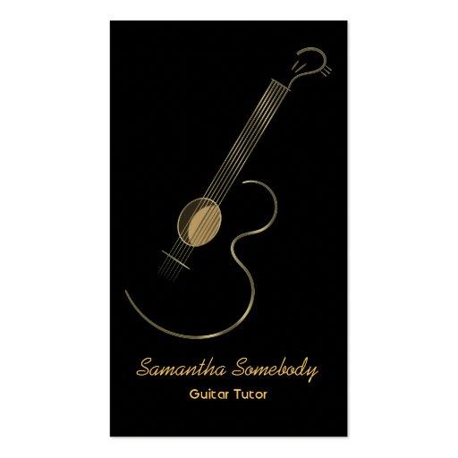 Modèle de carte de visite de logo de guitare acous
