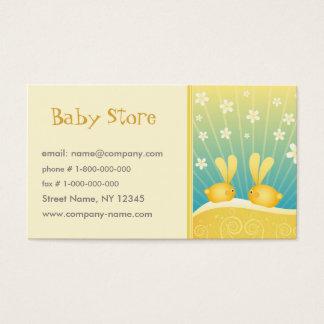 Modèle de carte de visite de magasin de bébé