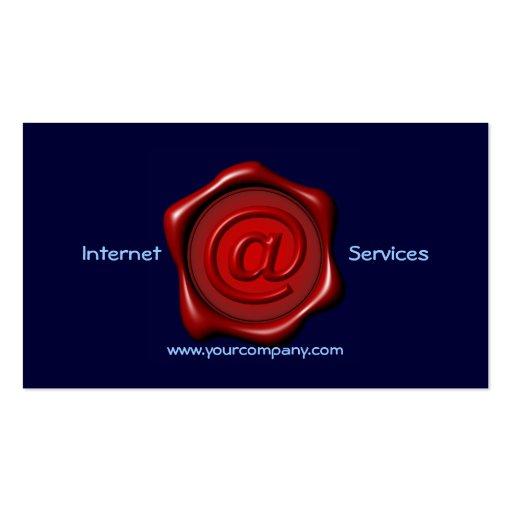 Modèle de carte de visite de Services Internet