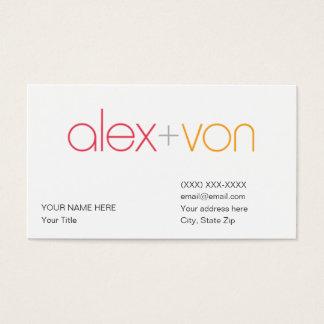 modèle de carte de visite de von d'Alex (avec