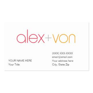 modèle de carte de visite de von d'Alex (avec l'ad