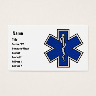 Modèle de carte de visite d'EMT