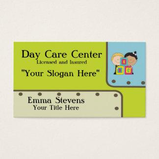 Modèle de carte de visite d'enfants de Childcare