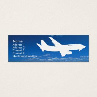 Modèle de carte de visite d'industrie aérienne