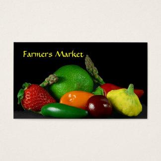 Modèle de carte de visite du marché de ferme