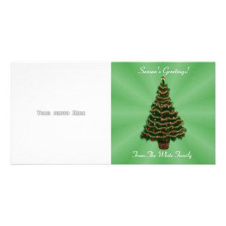 Modèle de carte photo d'arbre de Noël Photocarte Customisée
