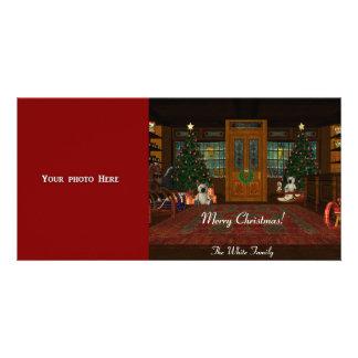Modèle de carte photo de Joyeux Noël Cartes Avec Photo