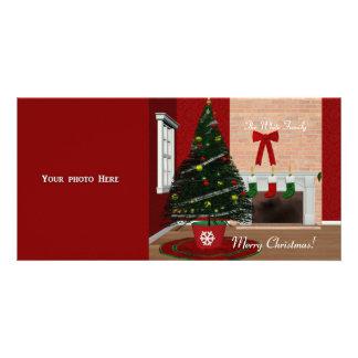Modèle de carte photo de Joyeux Noël Cartes De Vœux Avec Photo