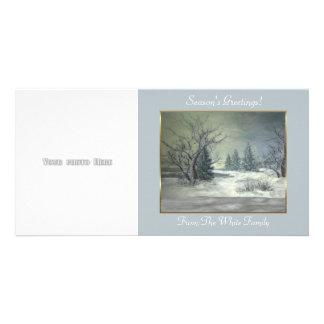 Modèle de carte photo de la scène 2 d'hiver photocarte customisée