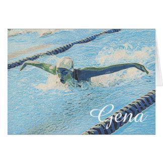 Modèle de cartes de note de natation