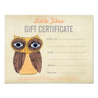Modèle de certificat-prime d'affaires de mode de carton d'invitation 10,79 cm x 13,97 cm