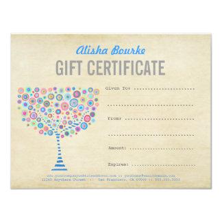 Modèle de certificat-prime d'affaires de mode carton d'invitation 10,79 cm x 13,97 cm