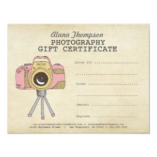Modèle de certificat-prime de photographie de invitations personnalisées