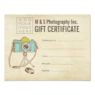 Modèle de certificat-prime de salon de beauté de carton d'invitation 10,79 cm x 13,97 cm