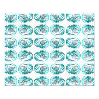 Modèle de coquilles prospectus 11,4 cm x 14,2 cm