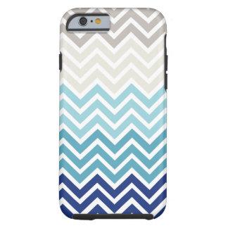 Modèle de couleurs nautique de Chevron Coque Tough iPhone 6