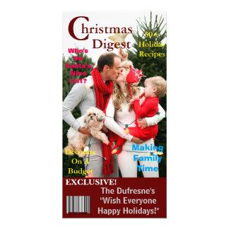Modèle de couverture de magazine de Noël