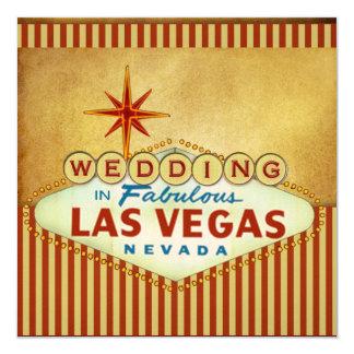 Modèle de faire-part de mariage de Las Vegas Carton D'invitation 13,33 Cm