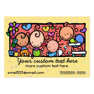 Modèle de garde d'enfants de crèche de bébé carte de visite grand format