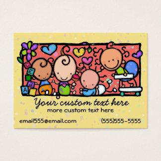 Modèle de garde d'enfants de crèche de bébé cartes de visite