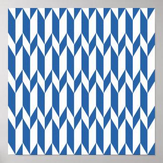 Modèle de graphique d'abrégé sur blanc et bleu mar posters