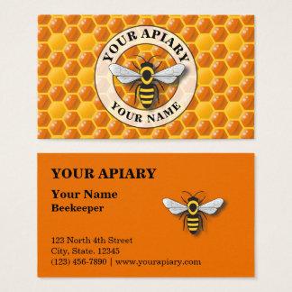 Modèle de nid d'abeilles de rucher cartes de visite