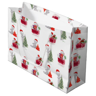 Modèle de Noël 3D Grand Sac Cadeau